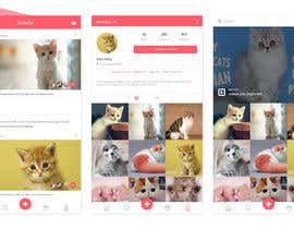 Nro 3 kilpailuun Design a mockup for an app like Instagram käyttäjältä aninuraeni