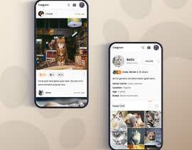 #11 for Design a mockup for an app like Instagram af UIXGhost