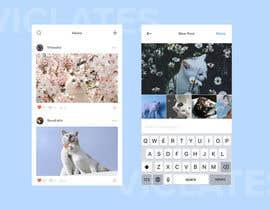 Nro 7 kilpailuun Design a mockup for an app like Instagram käyttäjältä Viclates