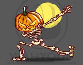 #13 for Pumpkin skeleton Dabbing Drawing by wahyous