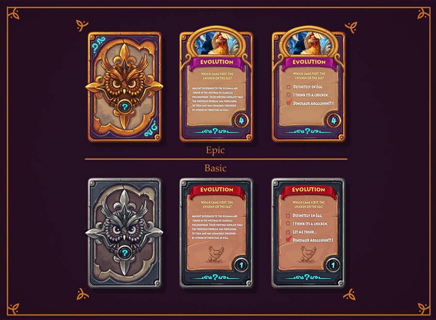 entry 33archestry for trading card game  design
