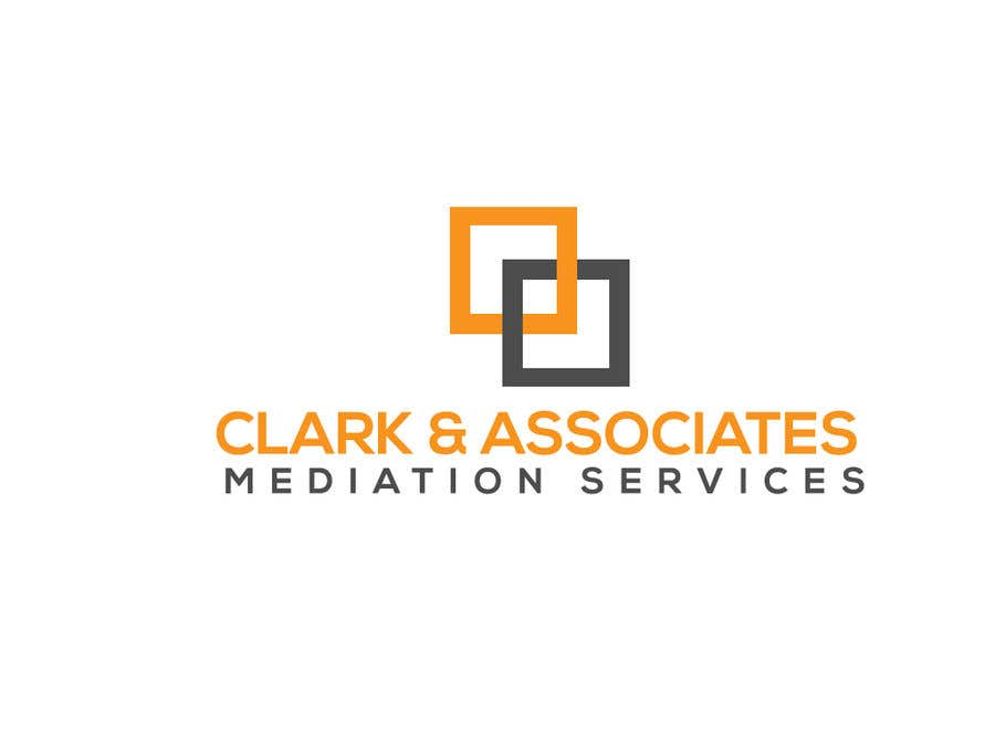 "Penyertaan Peraduan #26 untuk Logo for ""Clark & Associates Mediation Services"" which offers mediation services away from court for people involved in disputes. Key concepts: confidential, discussion, understanding, option generation, agreement, mutually beneficial outcome."