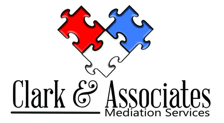 "Penyertaan Peraduan #25 untuk Logo for ""Clark & Associates Mediation Services"" which offers mediation services away from court for people involved in disputes. Key concepts: confidential, discussion, understanding, option generation, agreement, mutually beneficial outcome."
