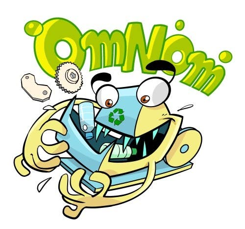 #36 for Looking for an illustrative or cartoonish style logo For the name OmNom. by artinearth