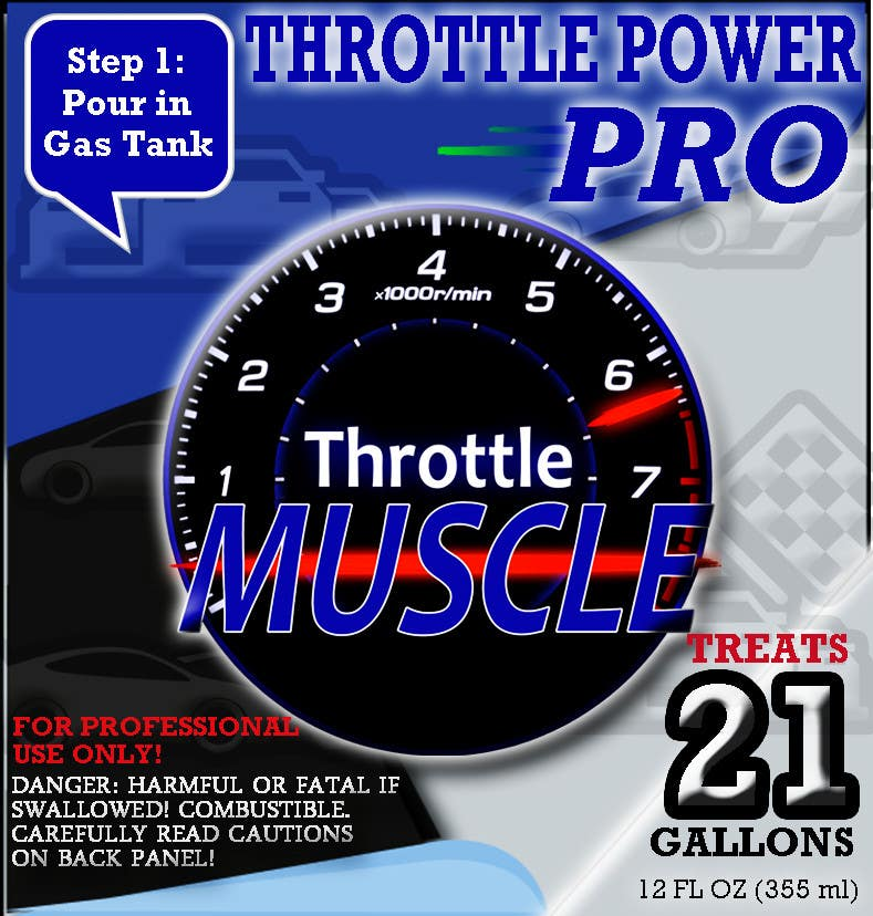 #2 for Print & Packaging Design for Throttle Muscle by hasankhalid89