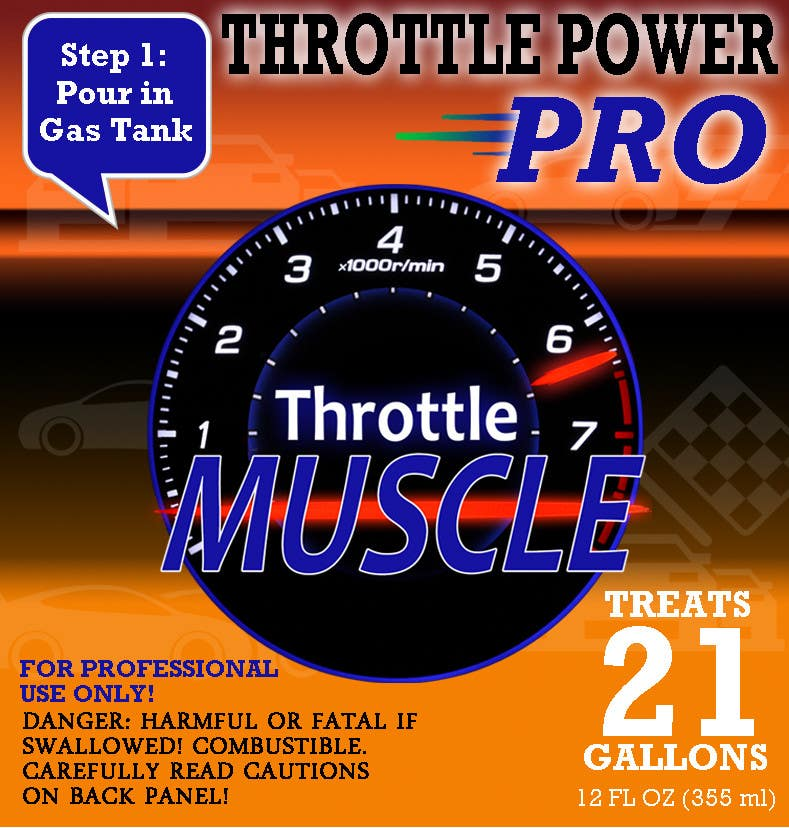 Konkurrenceindlæg #5 for Print & Packaging Design for Throttle Muscle