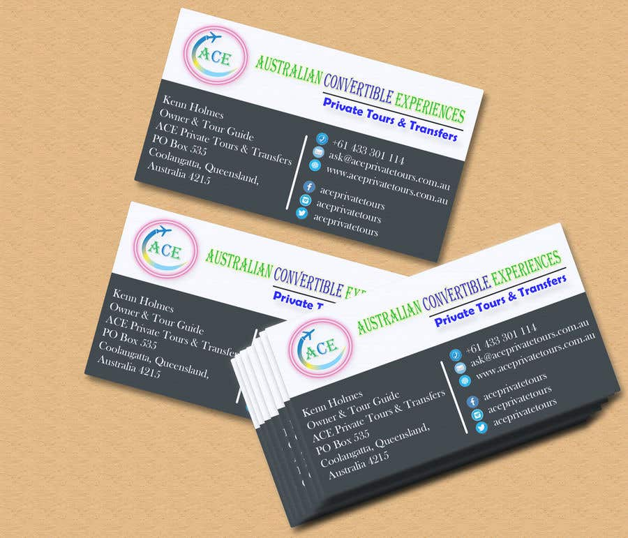 Entry 24 by eamin12 for ace private tours logo business cards contest entry 24 for ace private tours logo business cards colourmoves