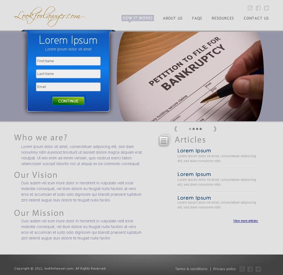 Конкурсная заявка №156 для Website Design for LookforLawyer.com
