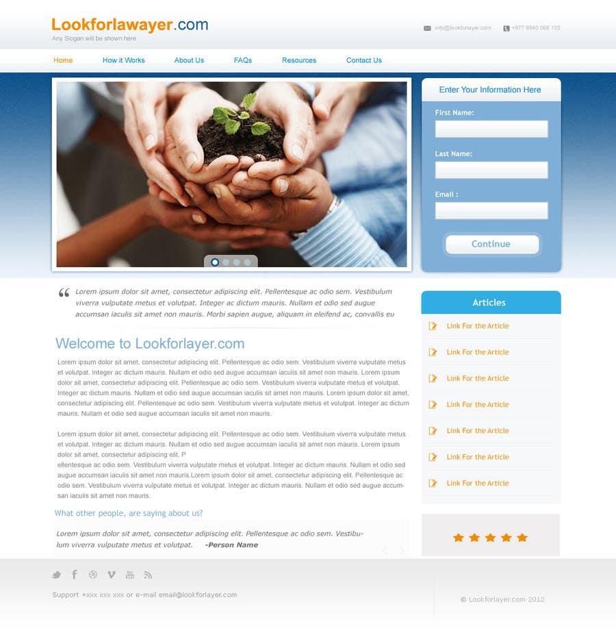 Kilpailutyö #79 kilpailussa Website Design for LookforLawyer.com