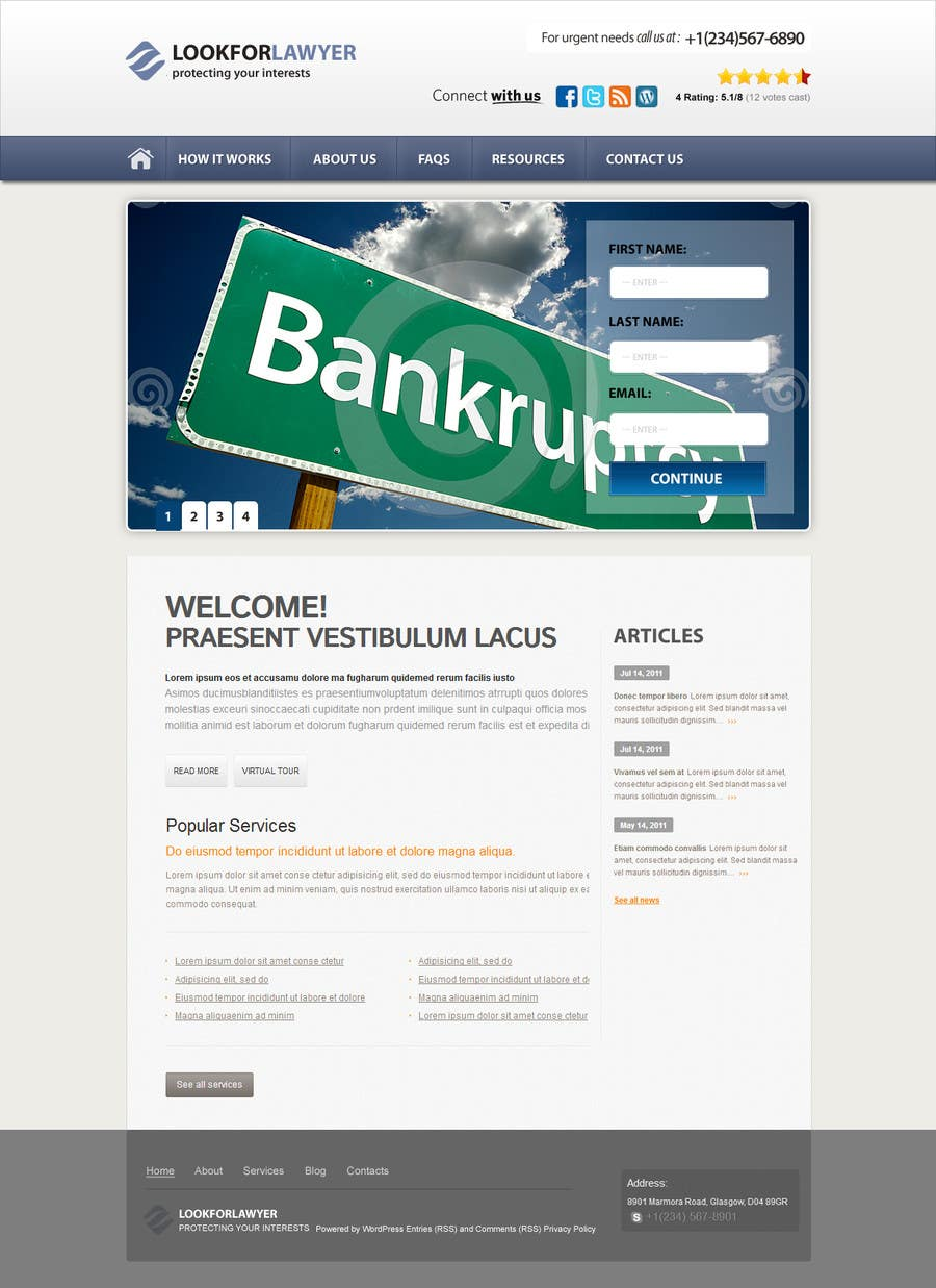 Конкурсная заявка №116 для Website Design for LookforLawyer.com