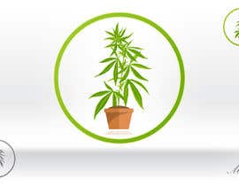 #53 cho Design a Logo with a green circle and  a cannabis plant bởi makic90