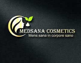 "#5 for logo for my business. Its about natural home-made cosmetics (cremes, soaps etc) witch are also terapeutical. The name is ""medsana cosmetics"". slogan is ""mens sana in corpore sano"" . Maybe a woman shape from the side holding something like a chamomile by GripichDesigner"