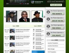 Nro 2 kilpailuun Design a Website Mockup for a Political candidate käyttäjältä rginfosystems
