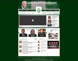 Nro 4 kilpailuun Design a Website Mockup for a Political candidate käyttäjältä gravitygraphics7