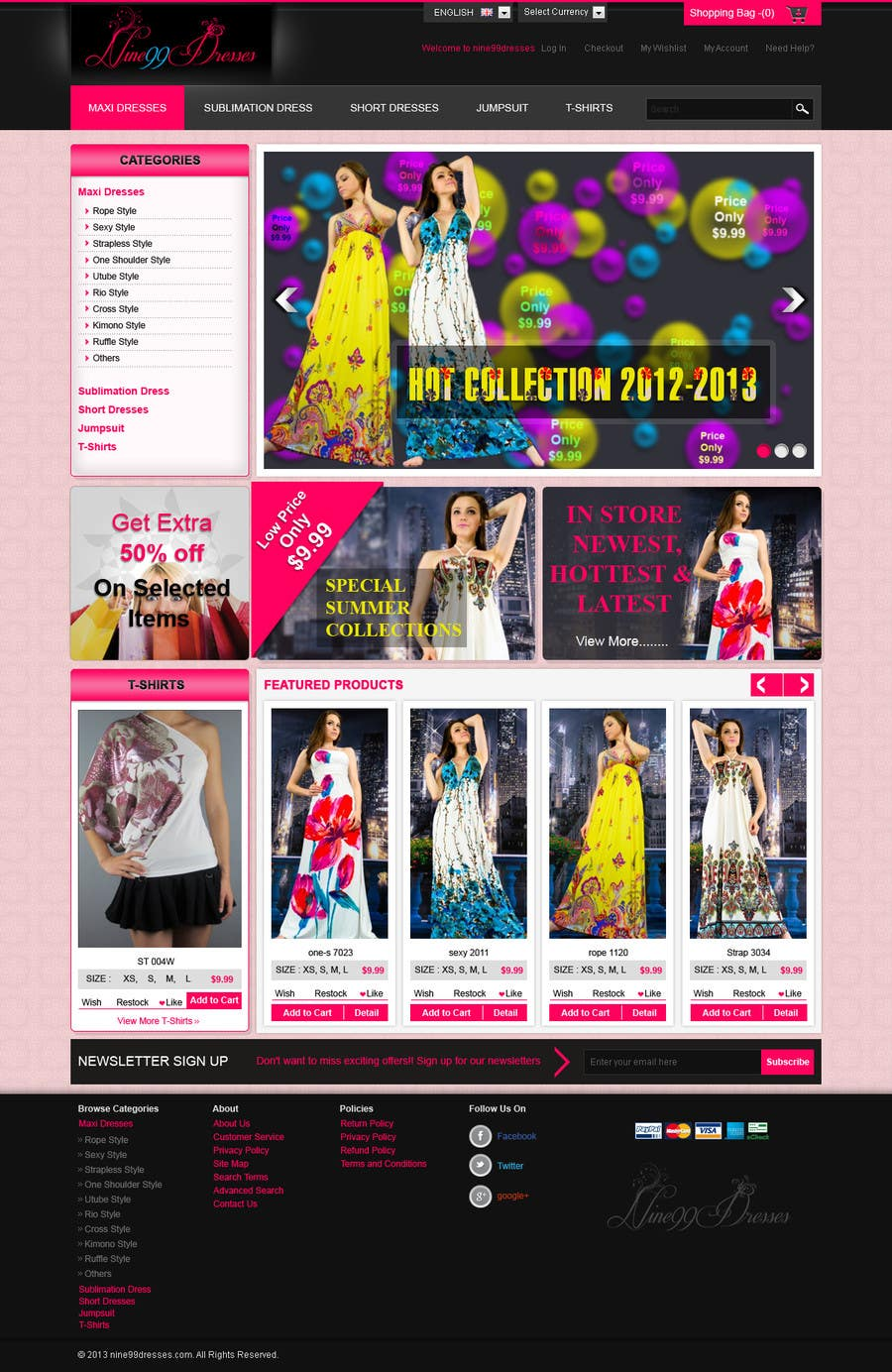#42 for Website Design for Dresses Fashion Site by kosmografic