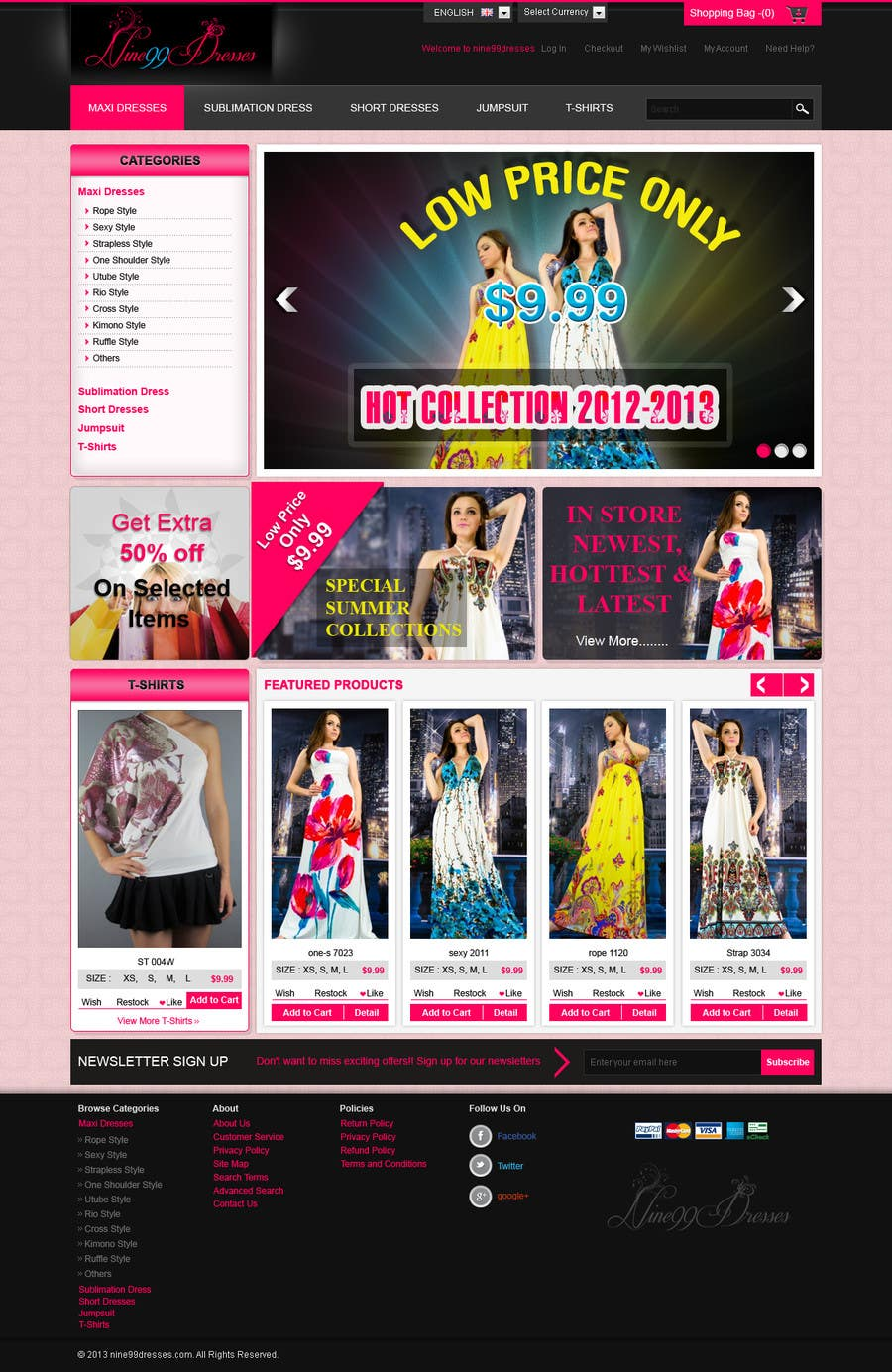 #47 for Website Design for Dresses Fashion Site by kosmografic