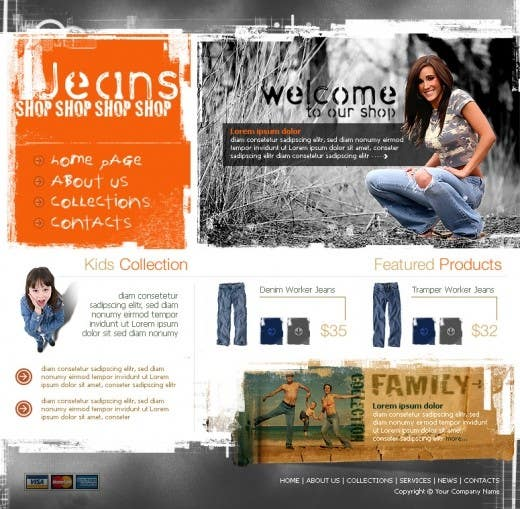 #38 for Website Design for Dresses Fashion Site by Acme1Asif