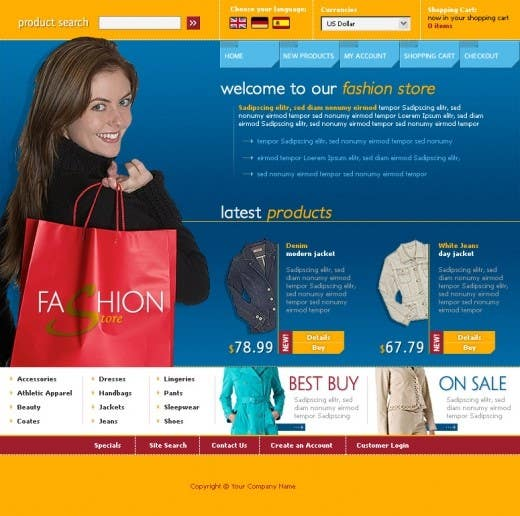 #36 for Website Design for Dresses Fashion Site by Acme1Asif