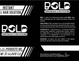 #34 cho Design a Hair Product Label that is Clean, portrays Confidence, and is BOLD bởi focuscreators