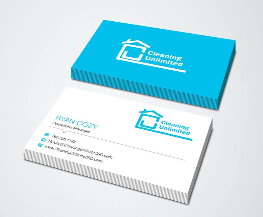 Professional Business Cards For Janitorial Company