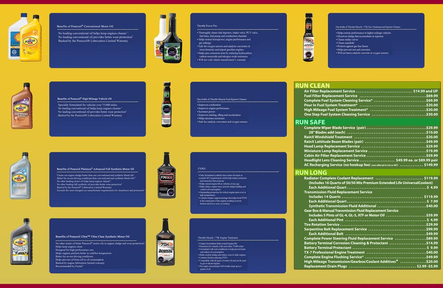 Конкурсная заявка №5 для Brochure Design for My Jiffy Lube