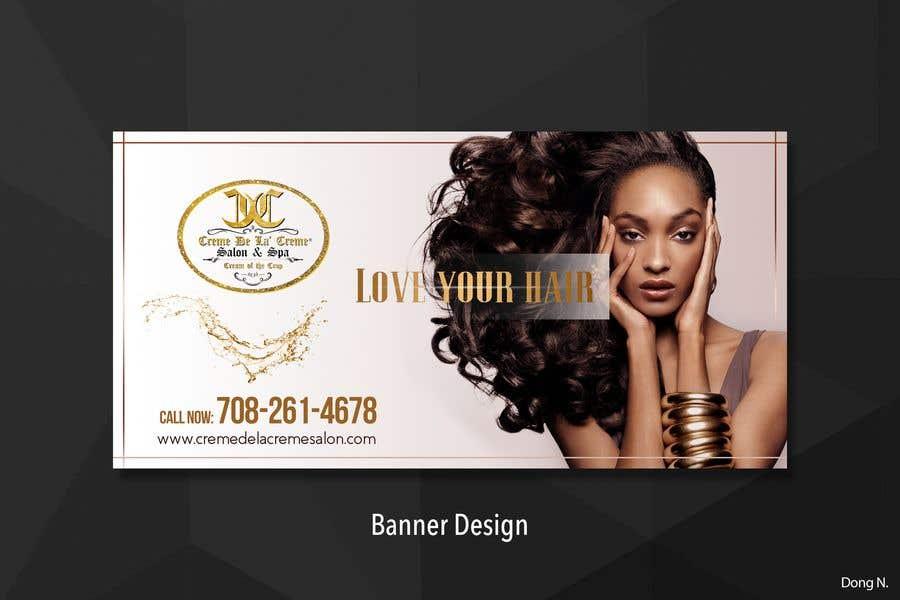 Entry 38 By Joengn For Simple Design For Printed Banner For Hair Salon Freelancer