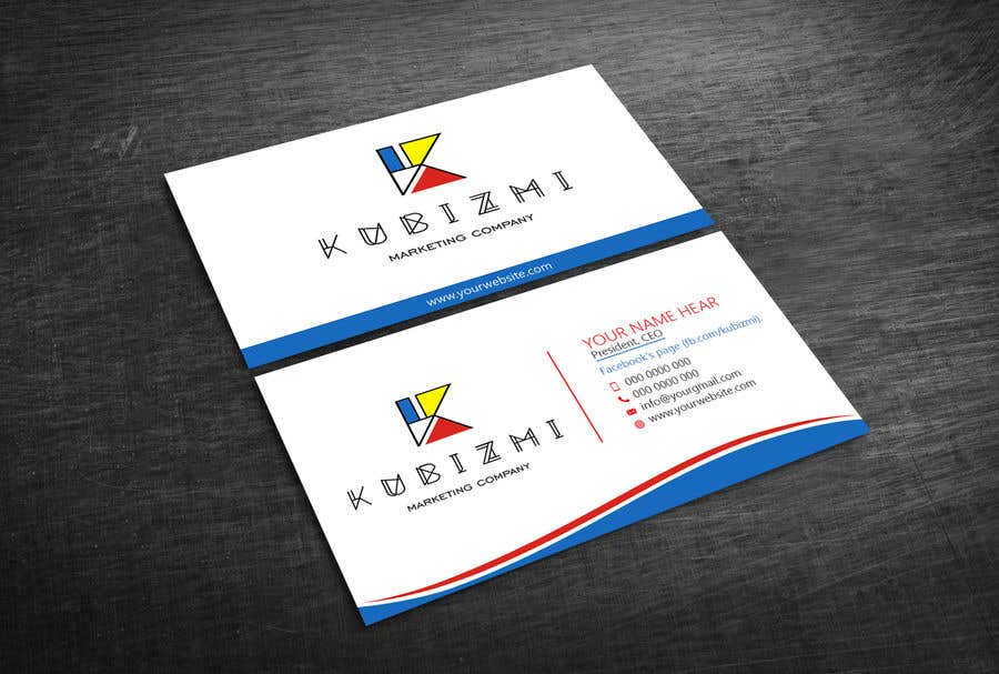Entry 12 by yatusher786 for i need to design facebook page business card colourmoves