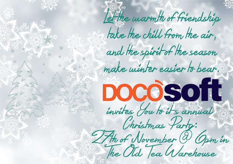Entry #34 by emesefajk for Corporate Christmas Party Invitation ...