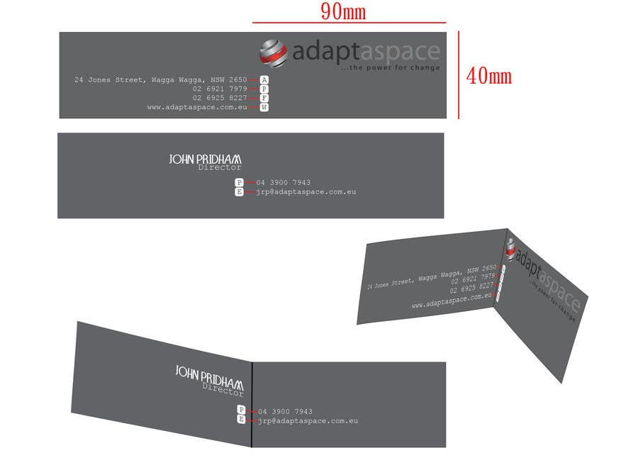 Konkurrenceindlæg #                                        28                                      for                                         Business Card for adaptaspace