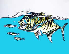 #13 for illustrate graphic fishing by artist4
