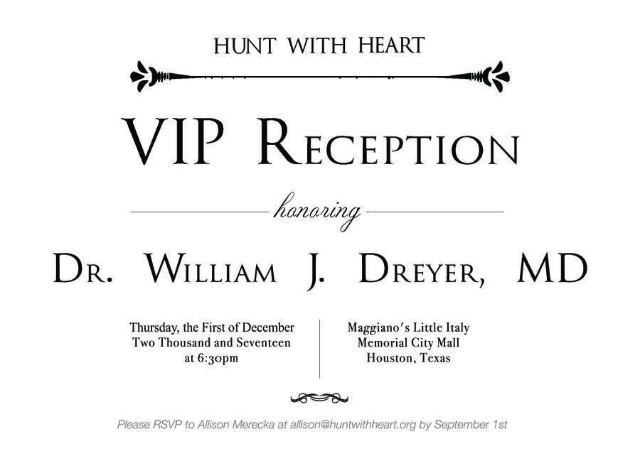 Kilpailutyö #15 kilpailussa VIP reception Invitation
