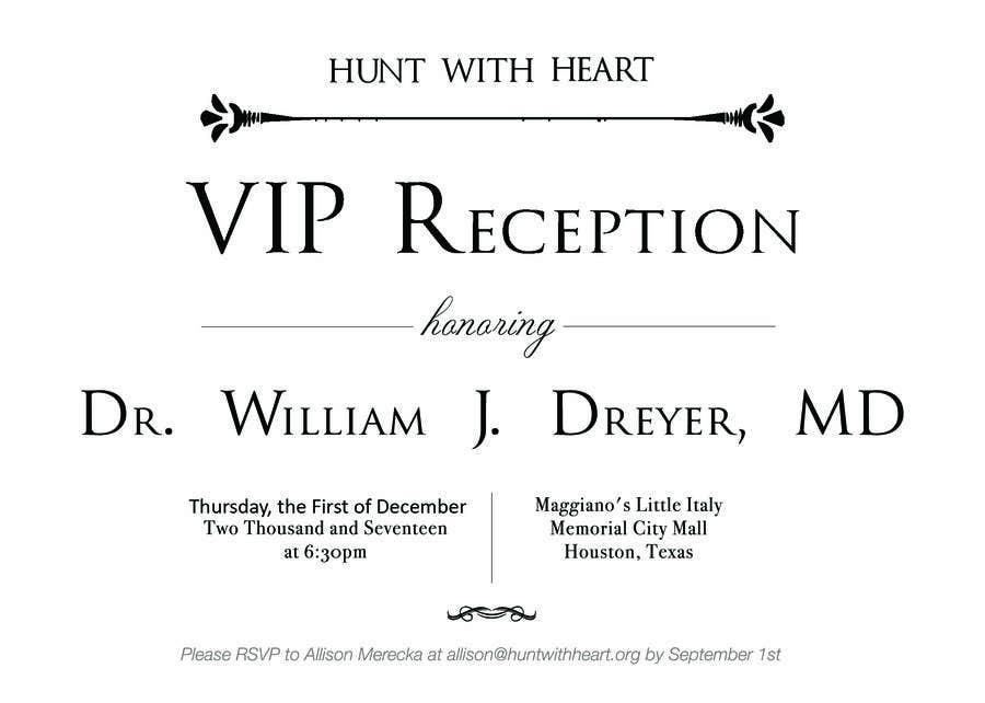 Kilpailutyö #26 kilpailussa VIP reception Invitation