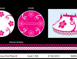 #68 for DESIGN FOR SAKURA CIRCUS TENT by WolfCubDesigns