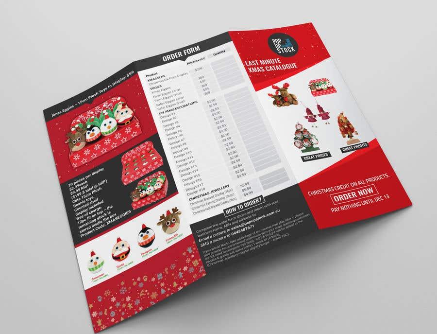 create a christmas themed tri  product