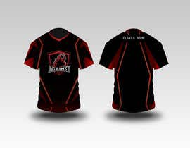 #5 for I am in search of a Game Jersey for my eSports Team.  The color would be black and red. The logo can be found in the website www.AgainstGaming.com  I need front and back. Shall be vectorized.  Thanks, Emilio Faria by AV1graphics