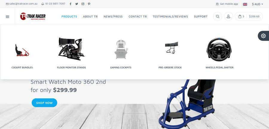 Penyertaan Peraduan #20 untuk Design a home page including header and footer