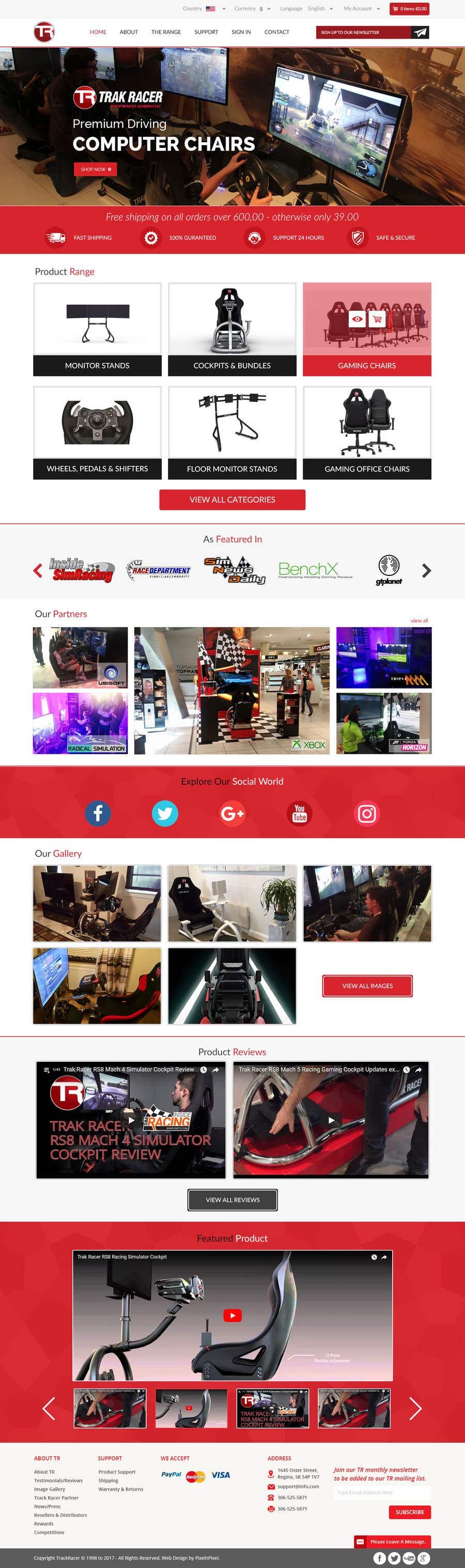 Penyertaan Peraduan #23 untuk Design a home page including header and footer