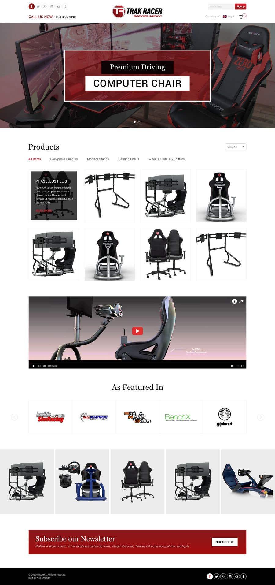 Penyertaan Peraduan #26 untuk Design a home page including header and footer