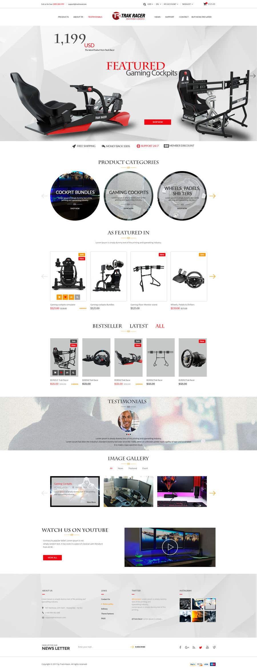 Penyertaan Peraduan #21 untuk Design a home page including header and footer