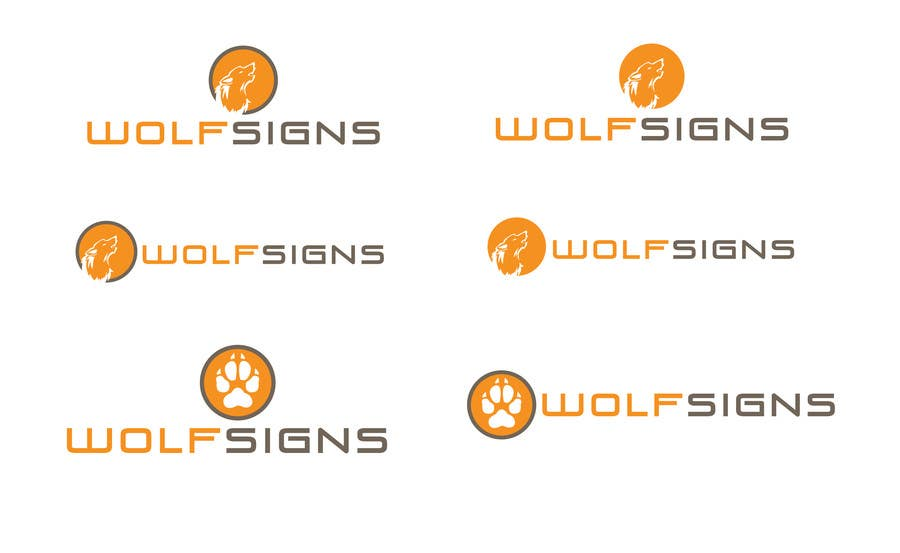 #294 for Logo Design for Wolf Signs by amandafifield