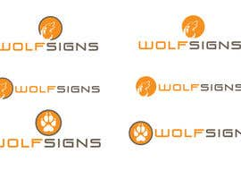 #293 for Logo Design for Wolf Signs by amandafifield