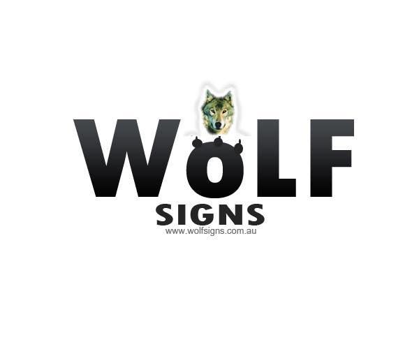 Bài tham dự cuộc thi #                                        291                                      cho                                         Logo Design for Wolf Signs