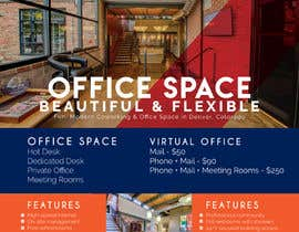 nº 91 pour FLYER for Coworking Office Space for Rent par usamawajeeh123
