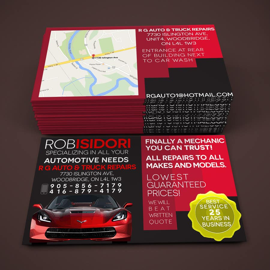 Design some Business Cards for auto shop | Freelancer
