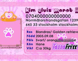 nº 52 pour Design a Pet ID-Card (for dogs and cats) Theme Prince and Princess par nglswt