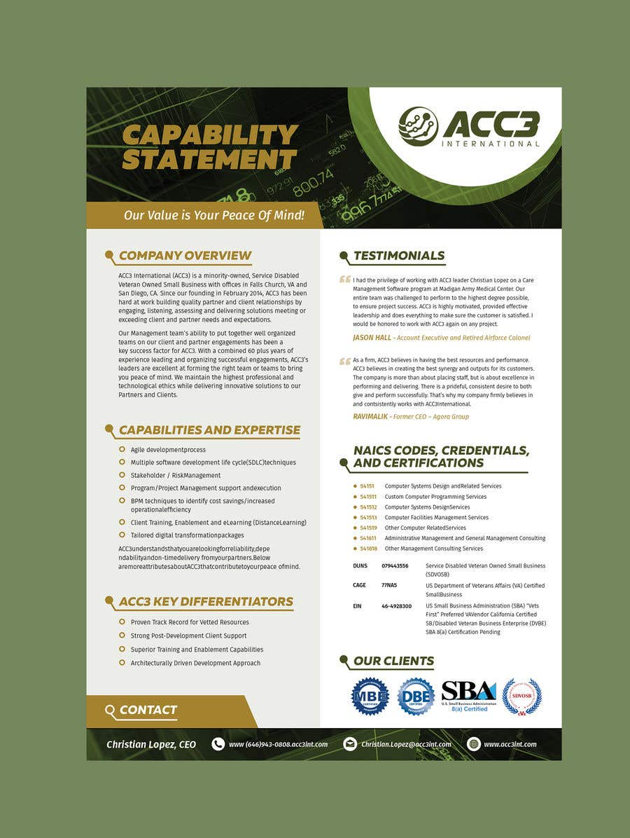 Entry #28 by chandrabhushan88 for Design a capabilities document ...