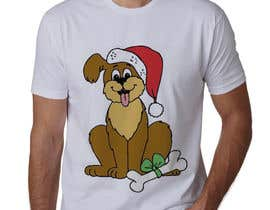 #19 for Christmas Tibetan Terrier portrait T-Shirt by sahac5555