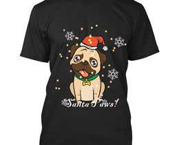 #47 for Christmas Tibetan Terrier portrait T-Shirt by shrabanty