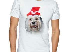#28 for Christmas Tibetan Terrier portrait T-Shirt by gdmasud