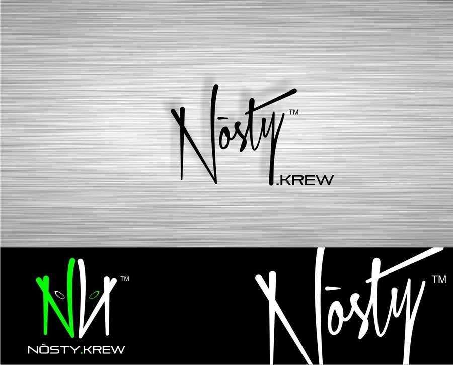 Bài tham dự cuộc thi #61 cho Logo Design for Nòsty, Nòsty Krew, Nòsty Deejays, Nòsty Events, Nòsty Production, Nòsty Store